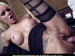 BUMS BUERO - Sexy German MILF Sophie Logan in hot office fuck with boss