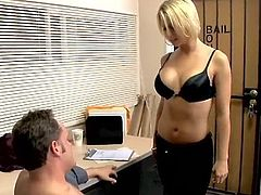 Brianna Beach fucks her employee to keep him