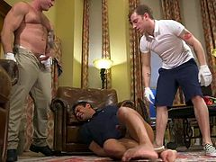 Draven Navarro got into a difficult situation, but, be sure, he was dreaming about this gay threesome for quite a long time. He likes to obey, likes to suck juicy hard dicks and... This hot bdsm session deserves your attention! Really hot stuff! Join!