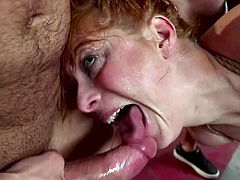 In this video Penny Pax looks like a thanksgiving turkey. The busty redhead milf is literally stuffed with fat hard dicks. Penny loves such entertainment and in general, sucking dicks and fucking- is her favorite activity. Hot stuff!