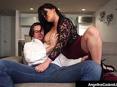 Thick Cuban Angelina Castro Shares Cock With Roberta Gemma!