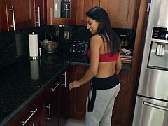 Seducing an inexperienced teen is so easy! They still do not know much and they are curious to try everything. When I offered my sexy neighbor Serena Santos to check what I have in my pants, she happily agreed. Watch the busty teen sucking my dick and enjoy!