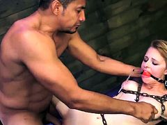 Really rough gangbang and brutal pain scream Helpless
