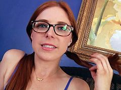 Redhead With Glasses Fucked In Throat HD