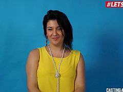 LETSDOEIT - Anal Loving MILF Cums on Casting Couch