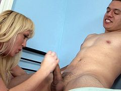Check out this smoking hot and horny blonde mature fuck slut getting her wet pussy drilled hard.Watch her sucking and fucking in HD.