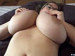 Enjoy horny Cheryl Blossom masturbating with her huge juggs out . And not much else besides this phat babe masturbating in HD video
