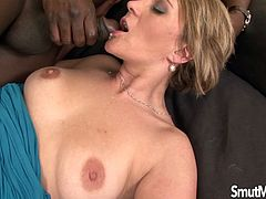 Sexy milf fucks her asshole with a dildo Then she takes a real black dick inside her pussy and asshole and get fucked in many positions She gives nice blowjob too He cums in her mouth