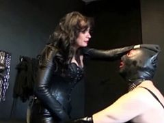 There they are these two kinky hotties having fun with all leather clothes and a huge phat dildo . Enjoy them fuck each other in HD
