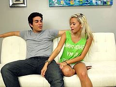 Sometimes for even less . Enjoy this gorgeous blonde slut Marsha May having fun with an younger dude with a huge prick in HD video