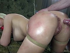 All couples are different and prefer different fun in bed. These two are already fed up with ordinary everyday sex and decide to try something new... They start with kinky BDSM fantasies. Watch breathtaking ass spanking and rough punishment!