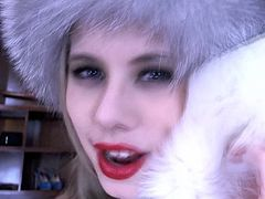 Check out this smoking hot and horny amateur woman wearing a fur coat showing off her slutty mouth.Watch her in HD ...