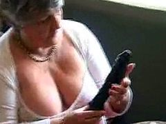 Steph calls to Libby's house to show her some sex toys she has for sale. This turns into a great granny lesbian session