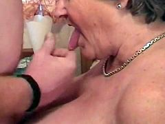 Libby ask's a Fisherman for directions to the toilet. He takes her back to his. Then the sex session begins. Ending with him cummimg over her tits and face