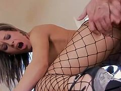 Anal fishnet babe Lara Croft (aka Lora Craft)