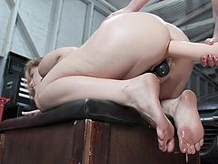 Ella likes anal sex. The hot blonde likes to feel a thick dick in her asshole and her lesbian lover, Casey Calvert, is ready to satisfy her every wish. She doesn't have a cock, but she has a big strapon that will do the job well... Join and convince yourself!