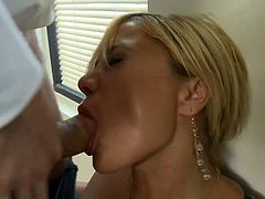 They are getting divorced and this Bitch is re marrying but her former husband is determined todominate and fuck the Bitch in their office, he strips her and his big cock does the rest, brilliant hot scene.
