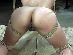 Jasmine's bubble butt is so resilient and attractive that everyone wants to touch and pinch. While her asian smile is so mysterious and charming, and lips are so sweet that every guy will happily put his dick between those plump lips, as Derrick Pierce does... Join for hot bdsm session! Hot stuff!