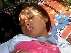Asian young girl homemade real video