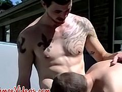 Two twinks bang their asses in public and they love the feeling of it so they cum immensely too.