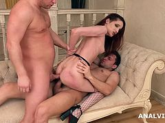 D P Debut With Two Guys For European Hottie Mia