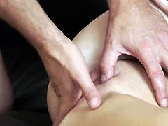 Teen squirt oil massage and 69 first time Horny blondie